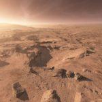 Пейзаж Марса в натуральных цветах