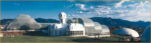 «Биосфера-2» — огромное сооружение моделирующее замкнутую биосферу.