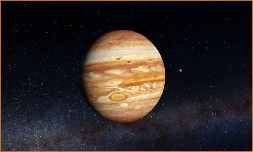 Планета Юпитер, самая большая в солнечной системе