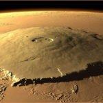 Извержение горы Олимп на Марсе сместило ось планеты.