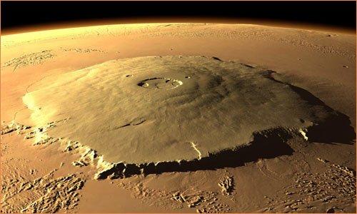 Гора Олимп на планете Марс