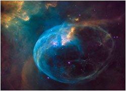 Новый юбилейный снимок Хаббл туманности пузырь
