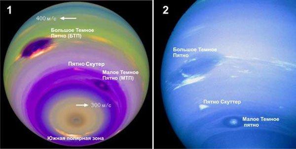 Большое Темное пятно Нептуна