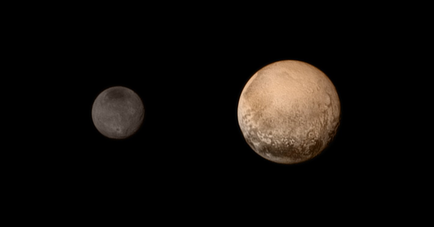 Плутон и его спутник Харон